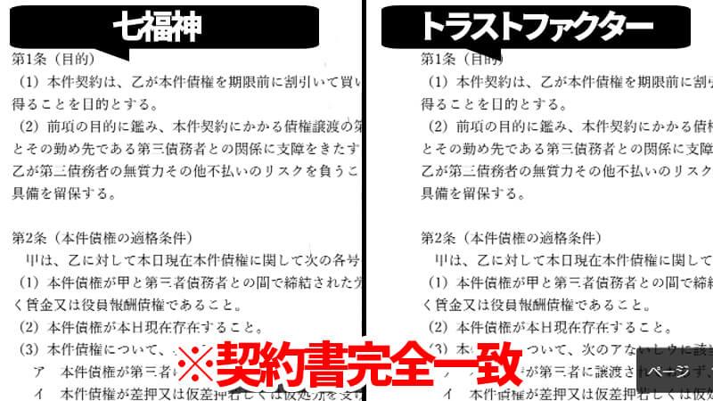 七福神とトラストファクター契約書